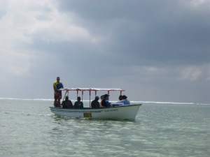 Boat to Ille De Coco in Rodrigues