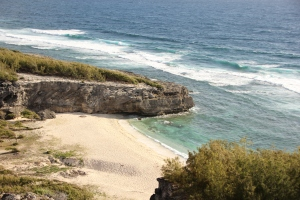 Beautiful secluded beach in Rodrigues